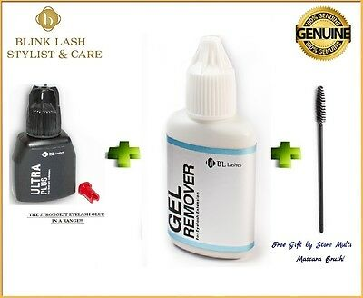 Ultra Plus Strong Glue Adhesive + Gel Remover 15ml Blink Lash Stylist BL Lashes
