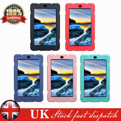 "For 7"" 8"" Amazon Kindle New Fire 7 HD 8 2017 Shockproof Soft Silicone Case Cover"