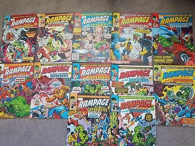 Old Marvel Comics - Rampage Starring the Daring Defenders 1978 x 12 Issues