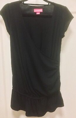 LIZ Lange: Black Crossover short sleeve maternity top Size XS