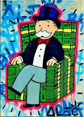 Unframed Hand-painted Portrait Alec monopoly A oil painting Art on canvas 24X36