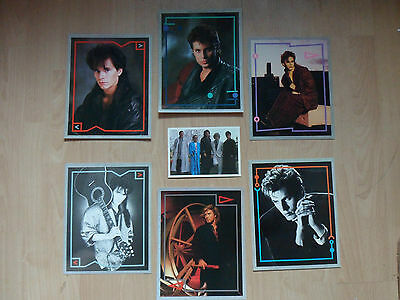 "DURAN DURAN ( Set of 6 Fan Club 10"" x 8"" Display Cards plus a Colour Postcard! )"