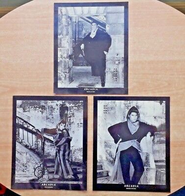 "ARCADIA ( Set of 3 Official ""Tritec"" Fan Club 10"" x 8"" Glossy Display Cards )"