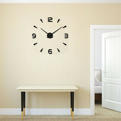 Large Wall Clock Big Watch Decal 3D Stickers Roman Numerals DIY Wall Home Decors