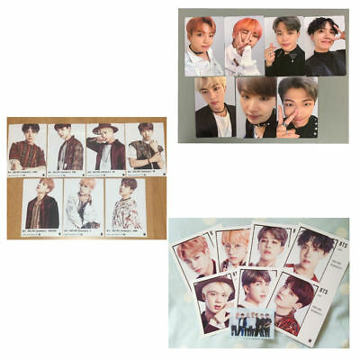 BTS FAKE LOVE Airplane Official Photocard changing jacket sleeve FULL SET