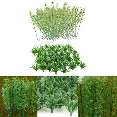 50x Scenery Landscape Model Grass+Model Bamboo Trees for Diorama Accessories