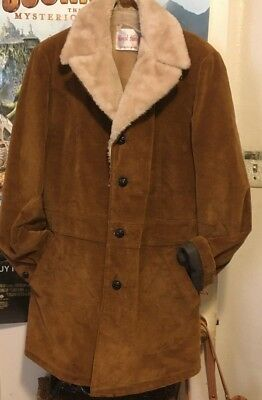 Rancher  Royal Knight Boys Corduroy Sherpa lined Coat  Size 18 Large/ 1970's