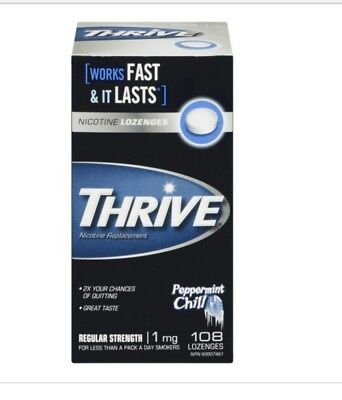BRAND NEW! Thrive nicotine lozenge- 1mg-324 pieces(3 pack)-peppermint chill