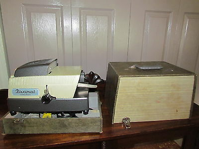 RARE   Vintage Paximat S Slide Projector with case-working-W. Carson Toronto
