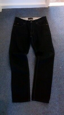 ZARA Mens Black Regular Fit Jeans Size W32 L32
