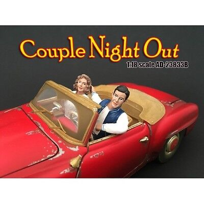Couples Night Out #3-Set of 2 seated-1/18 scale figure/figurine-AMERICAN DIORAMA