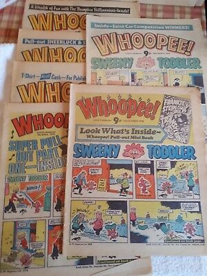 Whoopee Vintage Comic - 1970s  - 6 editions from 1978 and 1979 - Used