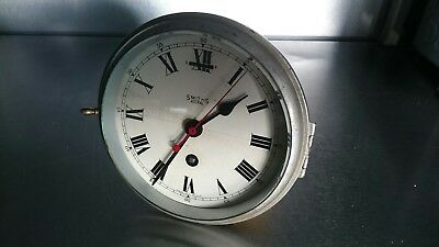 Ships Clock Smiths Astral Radio Room 7 Jewel Bulkhead  From Weather Ship Cumulus