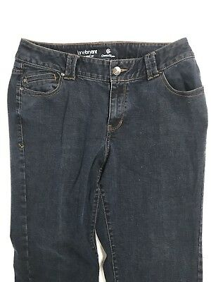 Lane Bryant Womens Plus Size Genius Fit Dark Wash Denim Slim Boot Cut Jeans 16