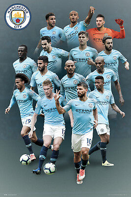 Manchester City Players 18/19 Maxi Poster Print 61x91.5cm | 24x36 inches