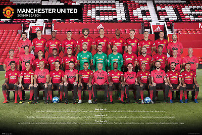 Manchester United Team Photo 18-19 Maxi Poster Print 61x91.5cm | 24x36 inches