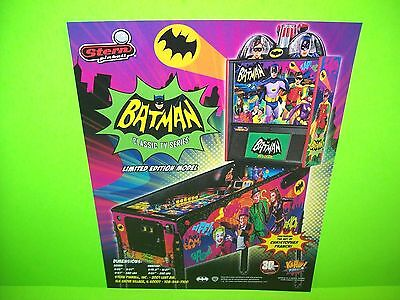 BATMAN 66 LIMITED Ed. Pinball Machine FLYER Original NOS Great Artwork ADAM WEST