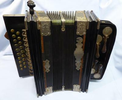 Vintage/antique Accordion Viceroy Hand Made In Saxony Professional Model
