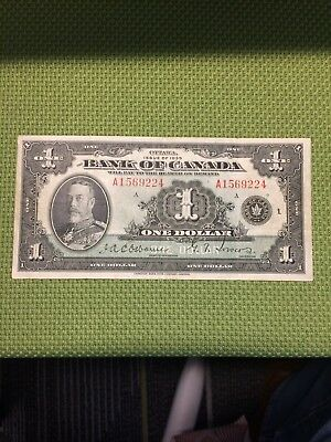 1935 Bank Of Canada $1 Note, Osborne - Towers Bc-1