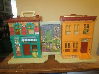 Vintage Fisher Price Sesame Street Playhouse and Huge Lot (73) characters