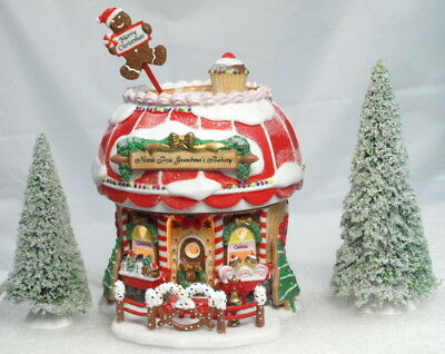 """""""new"""" Dept 56 North Pole Series """"north Pole Grandma's Bakery"""" Lighted W/all"""
