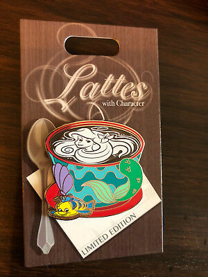 Disney Trading Pin Latte Lattes With Character November Little Mermaid Ariel LE