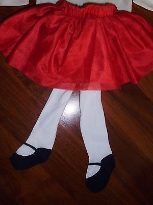 3 6 9 12 18 M Gymboree Red Holiday TUTU Tights Tulle Skirt Baby Girl New NWT
