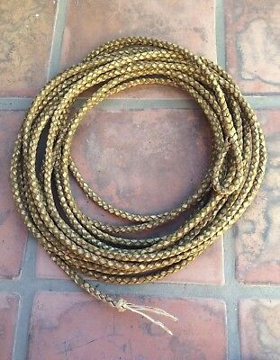 Pristine 4 Strand Rawhide Reata / Lariat  - Approx 45 foot, for use or display