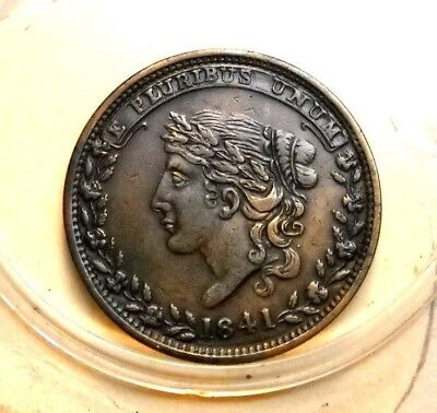 1841 Hard Time Token  - Not One Cent For Tribute