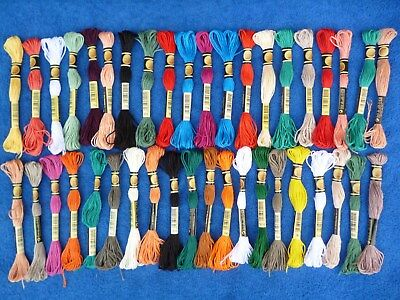 Job Lot of 40 x 5 Metre  Skeins Embroidery Cotton , Assorted Colours .