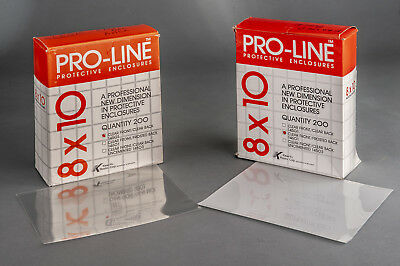 Pro-Line archival 8x10 film negative print or transparency sleeves,  375 sleeves