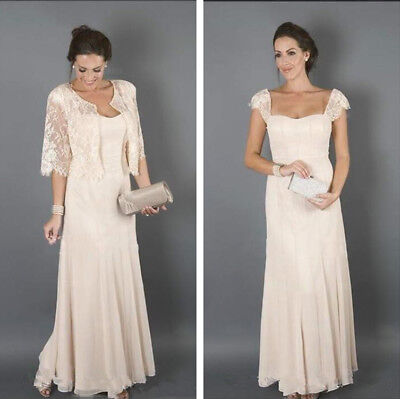 PLUS SIZE CHAMPAGNE Mother of the Bride Dresses with Lace ...