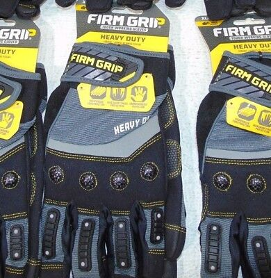 Firm Grip Heavy Duty Work Gloves X-Large Synthetic Leather XL