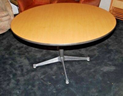 """Herman Miller Round Pedestal Dining Table Mid Century Aluminum Stand Base 42"""""""