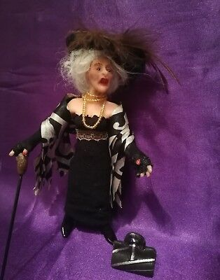 1/12th SCALE LADY OF THE MANOR doll  Handmade.  OOAK   HOUSE DOLL  MKDY