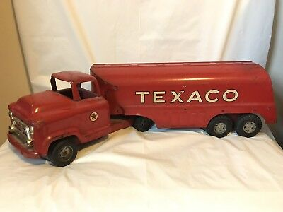 Vintage Texaco Oil Tanker Buddy L Antique Toy Pressed Steel Red Rare Gas Oil