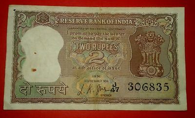 Very Rare Rs.2 Two Rupees ~ Sign by L.K.Jha ~ Diamond Issue Note