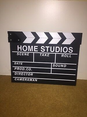 Clapper Board Hollywood Film Movie Prop Home Wall Art Clapperboard