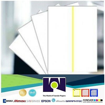 """Sublimation Transfer Paper for WhiteCotton / Yellow Line - 8.5""""x11"""" 10 Sheets Pk"""