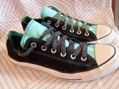 d1bc43b5648204 WOMEN S CONVERSE ALL STAR Black Teal Seafoam green SNEAKERS TENNIS SHOES  SIZE 10