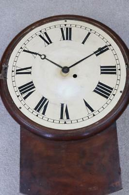 GEORGIAN WALL DIAL CLOCK single fusee FOR RESTORATION
