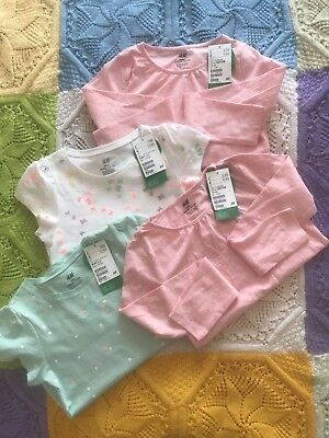 Bundle Of 4 Girls H&M Tops 6-8 Years. Brand New With Tags