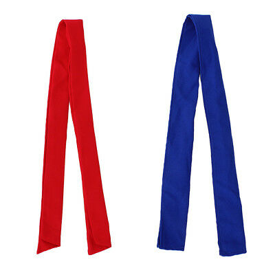 2 Pcs Unisex Chef Cooker Waiter Neckerchief Scarf Sweat Towel, Red and Blue