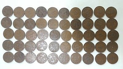 Canada Pennies Lot of 50 In Date Run of 1920 - 1936