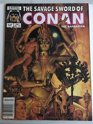 Savage Sword Of Conan #114 Marvel Comics Red Sonja KULL Robert E. Howard