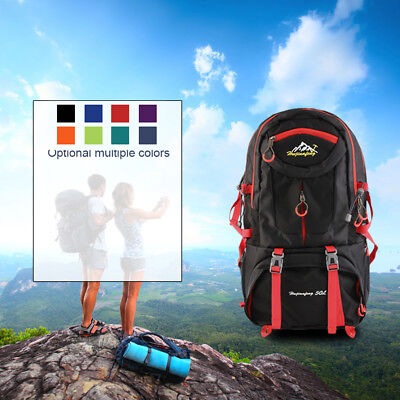 Outdoor Cycling Hiking Camping Rucksack Bag 50L Lightweight Traveling Backpack Y