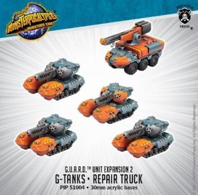 Privateer Monsterpocalypse G.U.A.R.D. G-Tanks & Repair Truck Unit Pack MINT