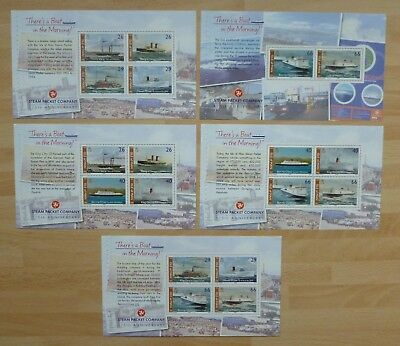 "Isle Of Man - 2005 ""there's A Boat In The Morning"" - Prestige Book Panes (5) Mnh"