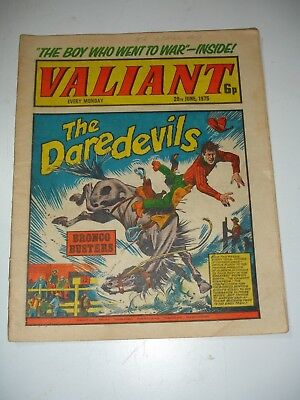VALIANT comic 28th June 1975