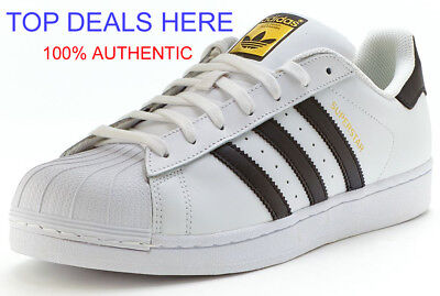 New Adidas Mens Originals Superstar Foundation [C77124] White/black/white